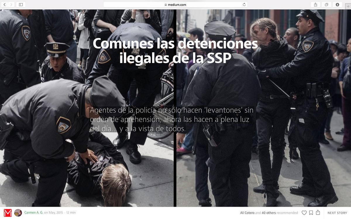 Protest in Mexico City, Nov 22, 2014